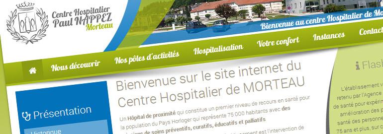 Nouveau site internet de l'Hôpital de Morteau